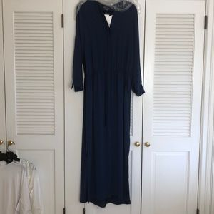 NWT VINCE silk long dress with side slits